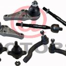 Mitsubishi Parts 2 Ball Joint Lower/ Upper 4 Tie Rods End Steering Montero 01 06
