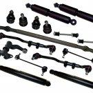 RWD Suspension Steering Kit Shock Absorber Rack End Fits Frontier 2.4L 1998-2001