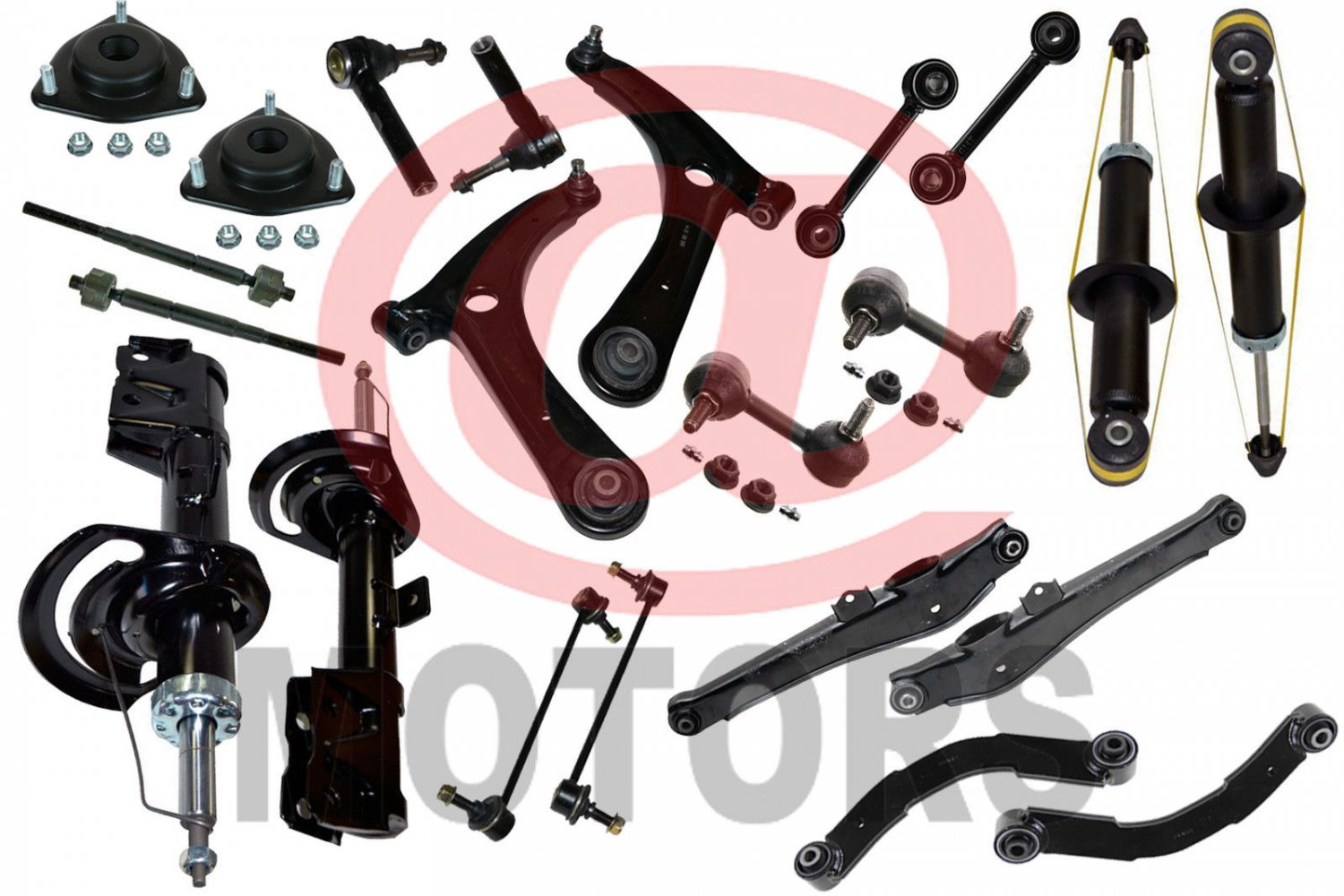 Kit Suspension Chassis Control Arm Ball Joint Shocks Dodge Caliber Jeep COMPASS