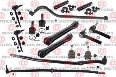 Front Control Arm Ball Joints Tie Rods End Track Bar Adj Sleeve For Ram 1500 4WD