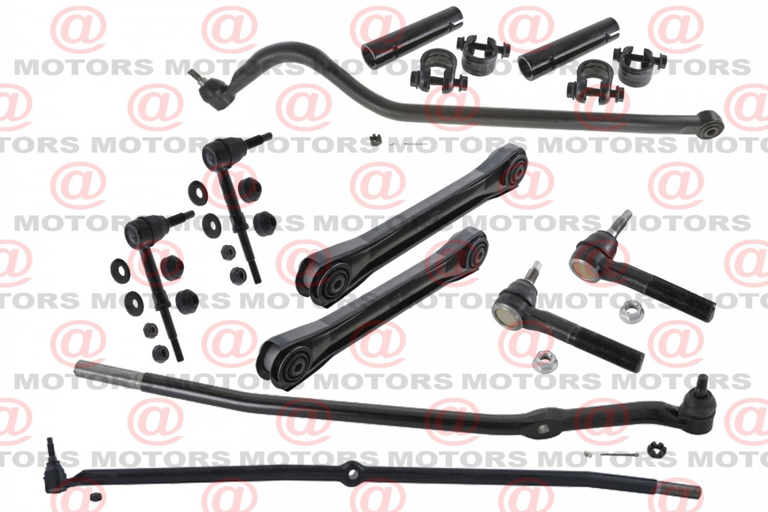 Front Control Arm Track Bar Stabilizer Bar Link Tie Rods For RAM 2500 4WD 00-02