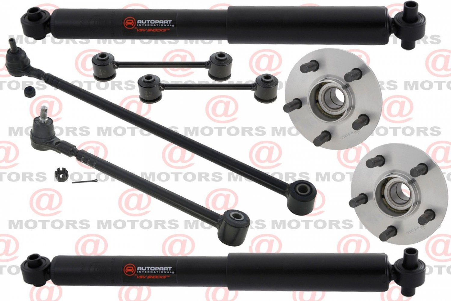 For 2001-2010 Pt Cruiser Rear Shocks Stabilizer Bar Link Lateral Arms Hub Assy