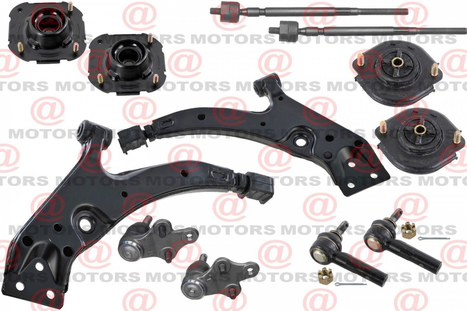Front Rear Strut Mount Control Arms Ball Joints Tie Rods For Toyota Tercel 95-97