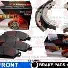 For Ford F-250 Super Duty 99-04 Front Lh & Rh Brake Pad Ceramic Rear Brake Shoes