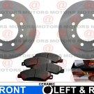 For GMC Yukon XL 2500 01-05 Front Set Of Brake Rotors And Ceramic Brake Pads