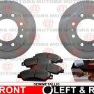 For Gmc Sierra 3500 04-06 Front Brake Rotors And Semi-Metallic Brake Pads New