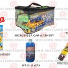 Wash & Wax Microfiber Portable Tire Shine Car Care Kit Air Freshener Free New