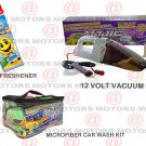 12 Volt Vacuum 90 Watt Wet Dry Microfiber Portable Car Wash Kit 8 Pcs Car Care