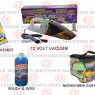 Wash & Wax Concentrate 16oZ 12 Volt Vacuum 90 Watt Microfiber Portable Car Wash