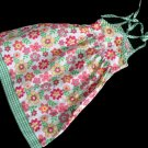 KIKS Green Pink Floral Sun Dress 18 mos