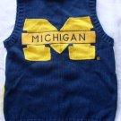 BIRCH BROS Michigan Wolverines Blue Yellow Vest S