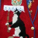 WINONA Red Blue Cat Vest M