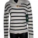 NEW RALPH LAUREN Black Cream Stripe Sweater XS