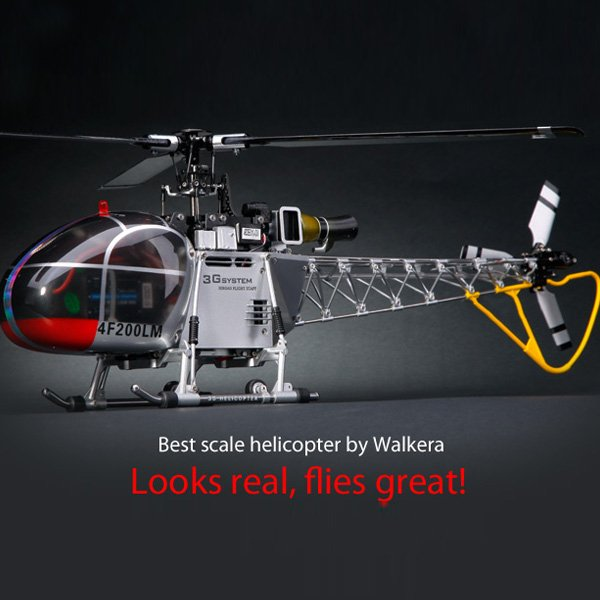 Walkera 4F200LM 2.4GHz 6CH Brushless Three-Axis Gyro RC Helicopter_Sold Out !