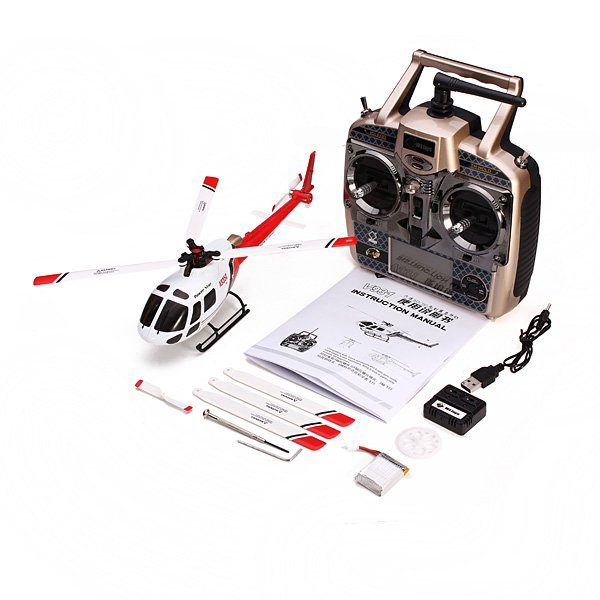 WLtoys V931 2.4G 6CH Brushless Scale Lama Flybarless RC Helicopter_Sold Out !