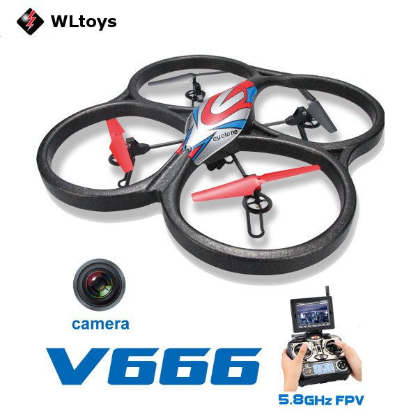 WLtoys V666 5.8G FPV 6 Axis RC Quadcopter With HD Camera Monitor RTF_Sold Out
