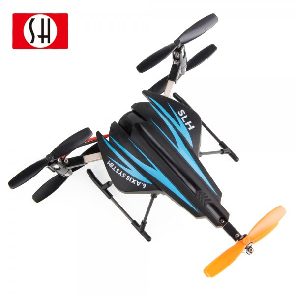 SH 6047A 2.4GHz 4 Channel 6 Axis 3D RC Quadcopter UFO Blue