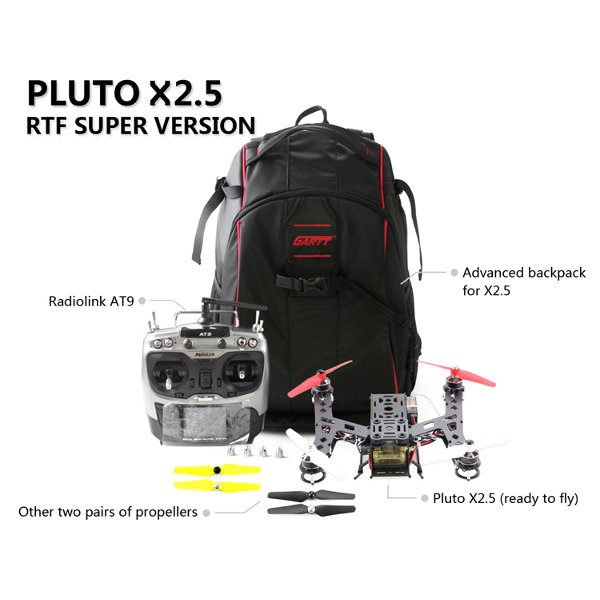 Pluto X2.5 250 Frame Combo RadioLink AT9 Transmitter CC3D 10A ESC RTF