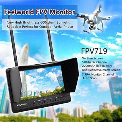 FeelWorld FPV719  5.8G 32CH Wireless 7 Inch FPV HD Monitor