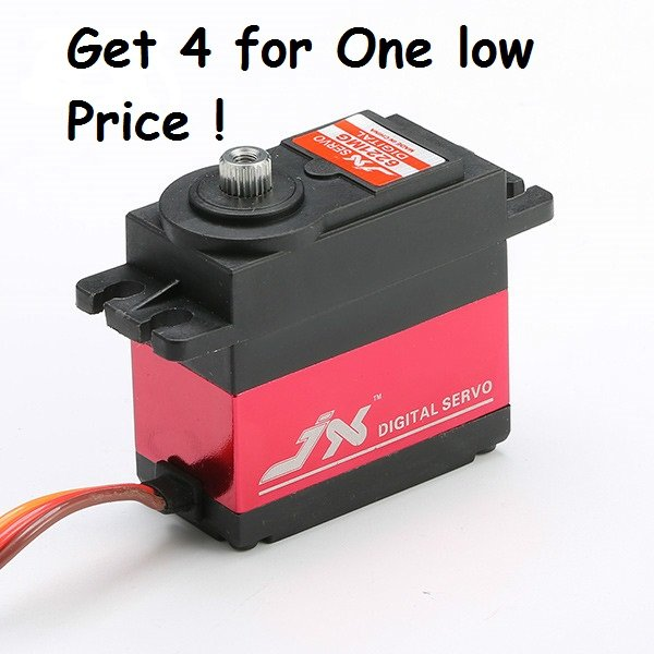 Package of (4) JX PDI-6221MG 20KG Large Torque Digital Standard Servos