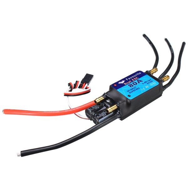 FVT BOAT080 80A Brushless Senseless BOAT ESC Speed Controller Waterproof 5V/5A