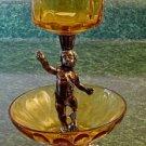 Italian Brass &  Glass & Gilded Cupid