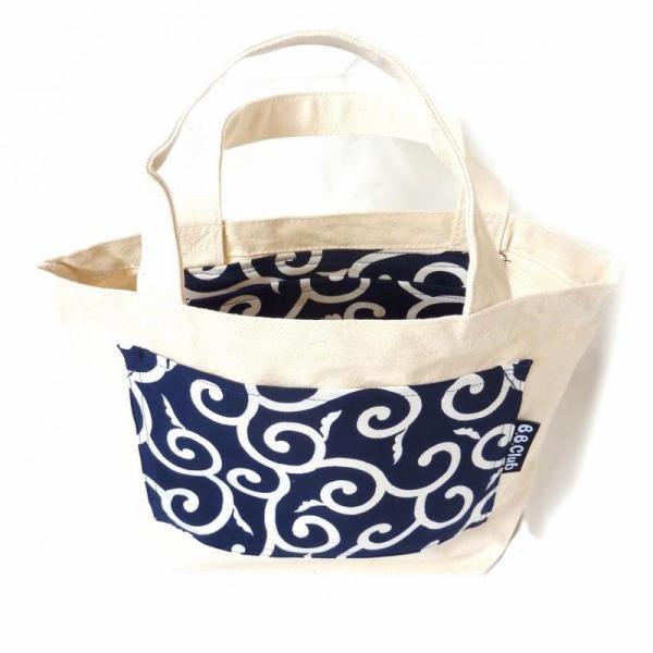 Tote bag Japanese KARAKUSA-Navy Blue