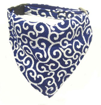 Dog KARAKUSA Bandana Collar Navy Blue SS size