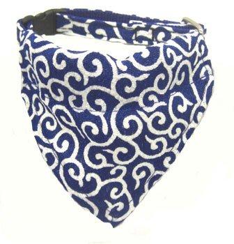 Dog KARAKUSA Bandana Collar Navy Blue S size (Dog Collar + Bandana)