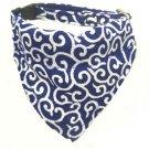 Dog KARAKUSA Bandana Collar Navy Blue L size (Dog Collar + Bandana)