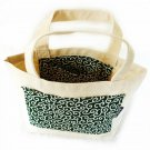 Tote bag Japanese KARAKUSA Small-patterned Green