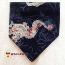"Dog Bandana for Dragon ""Navy Blue"""