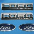 Brand New Ford OEM F-150 Lobo Platinum 2014-2015 4 Piece Emblem Set