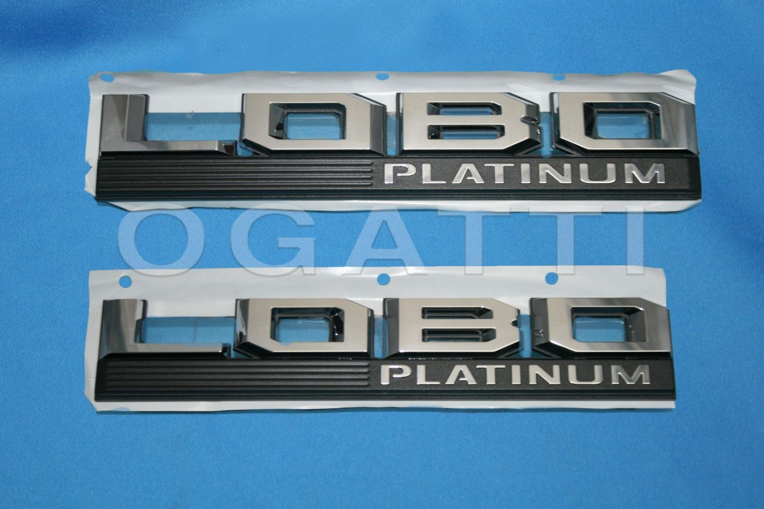 Brand New Ford OEM F-150 Lobo Platinum 2014-2015 2 Piece Emblem Set
