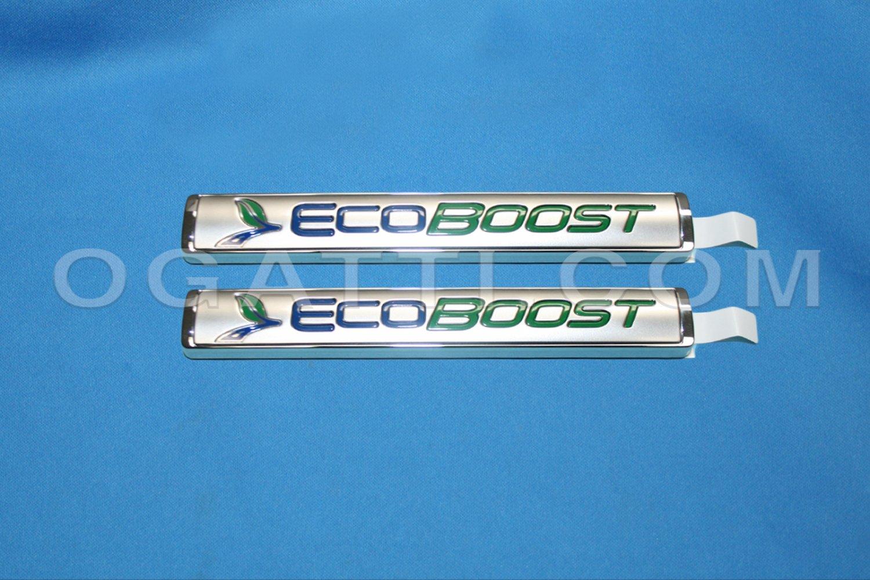 Brand New Ford OEM F-150 2014-2015 Rear Tailgate Ecoboost 2 Piece Emblem Set FL3Z-9942528-H