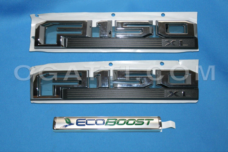 Brand New Ford OEM F-150 XL Ecoboost 2014-2015 3 Piece Emblem Set
