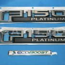 Brand New Ford OEM F-150 Platinum Ecoboost 2014-2015 3 Piece Emblem Set