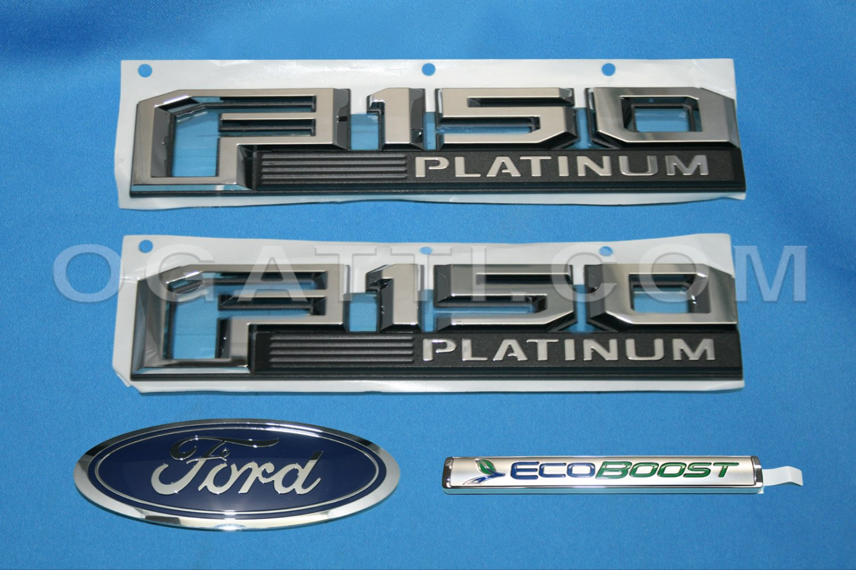 Brand New Ford OEM F-150 Platinum Ecoboost 2014-2015 4 Piece Emblem Set
