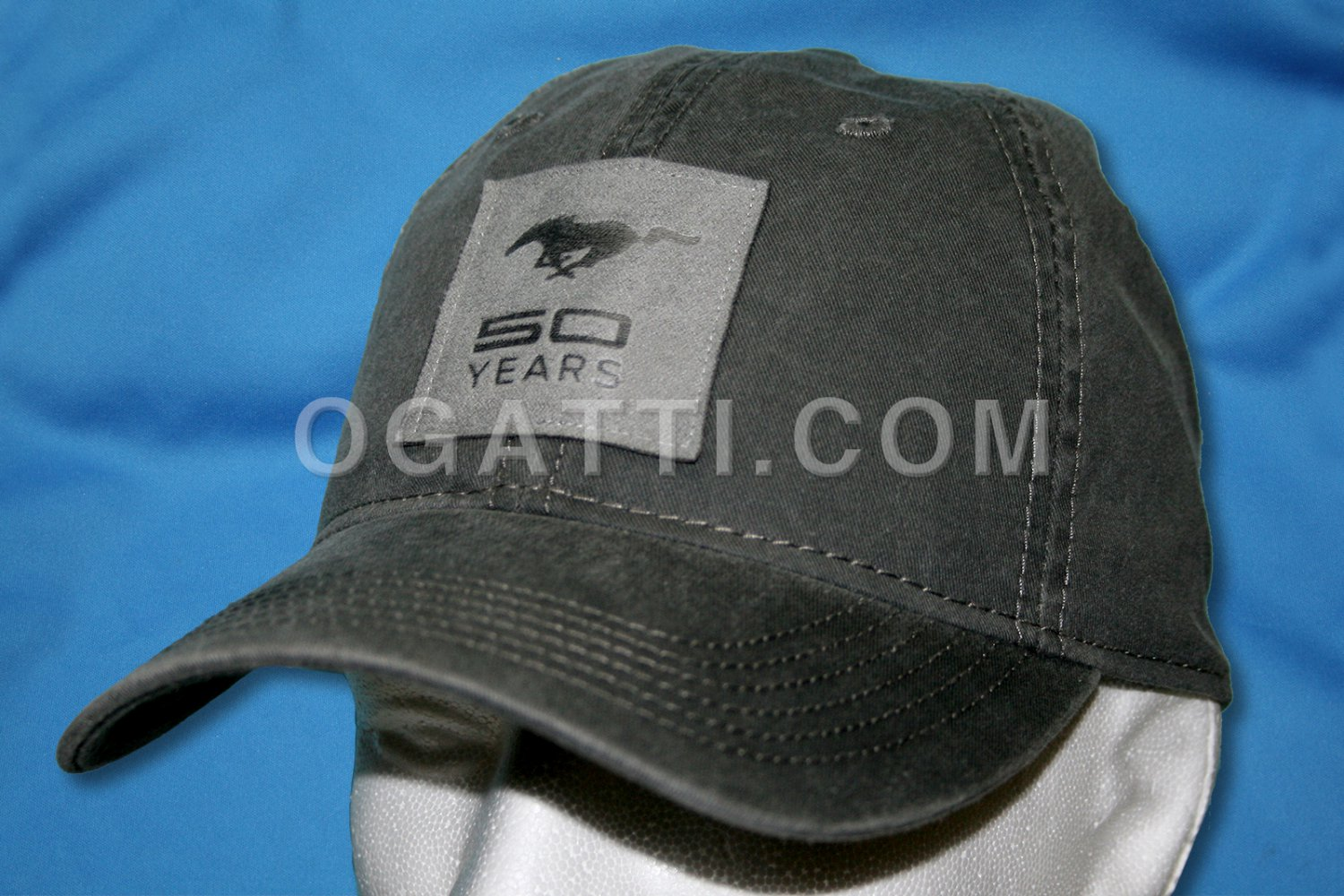Brand New Ford Mustang Fifty Years With Leather Patch Hat 1026322
