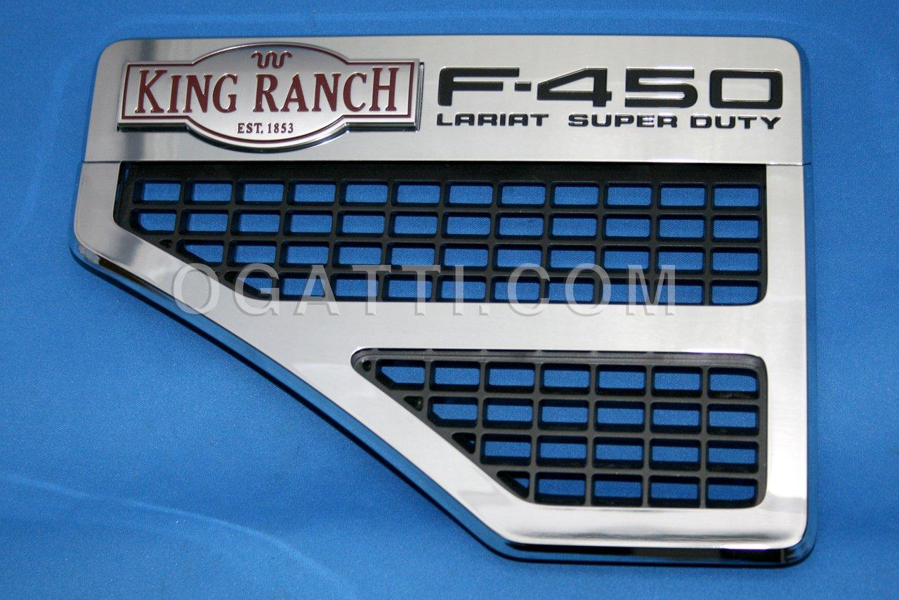 Brand New Ford OEM F-450 King Ranch Lariat 2008-2010 Left Fender Vent Set 8C3Z-16228-F