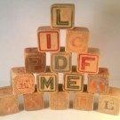"""15 Antique 1 3/4"""" Wooden Children's Blocks"""