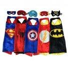 Superhero Dress Up Costumes - 5 Satin Capes and 5 Felt Masks