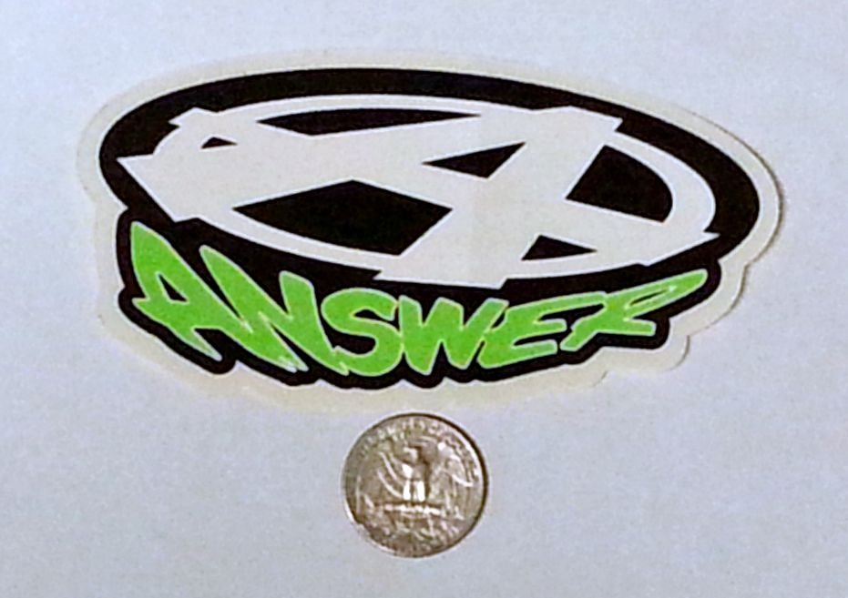 "Answer sticker - 4 1/2"" x 2 3/8"""