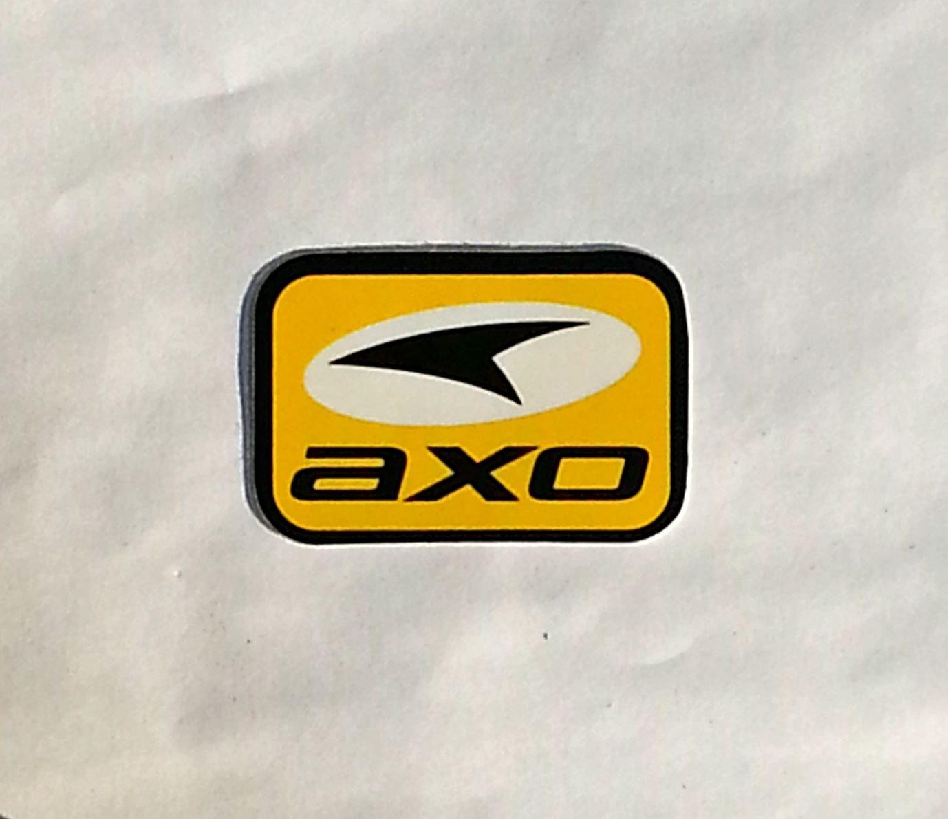 "AXO sticker(small) Yellow/Blk - 2 5/8"" x 1 3/4"""