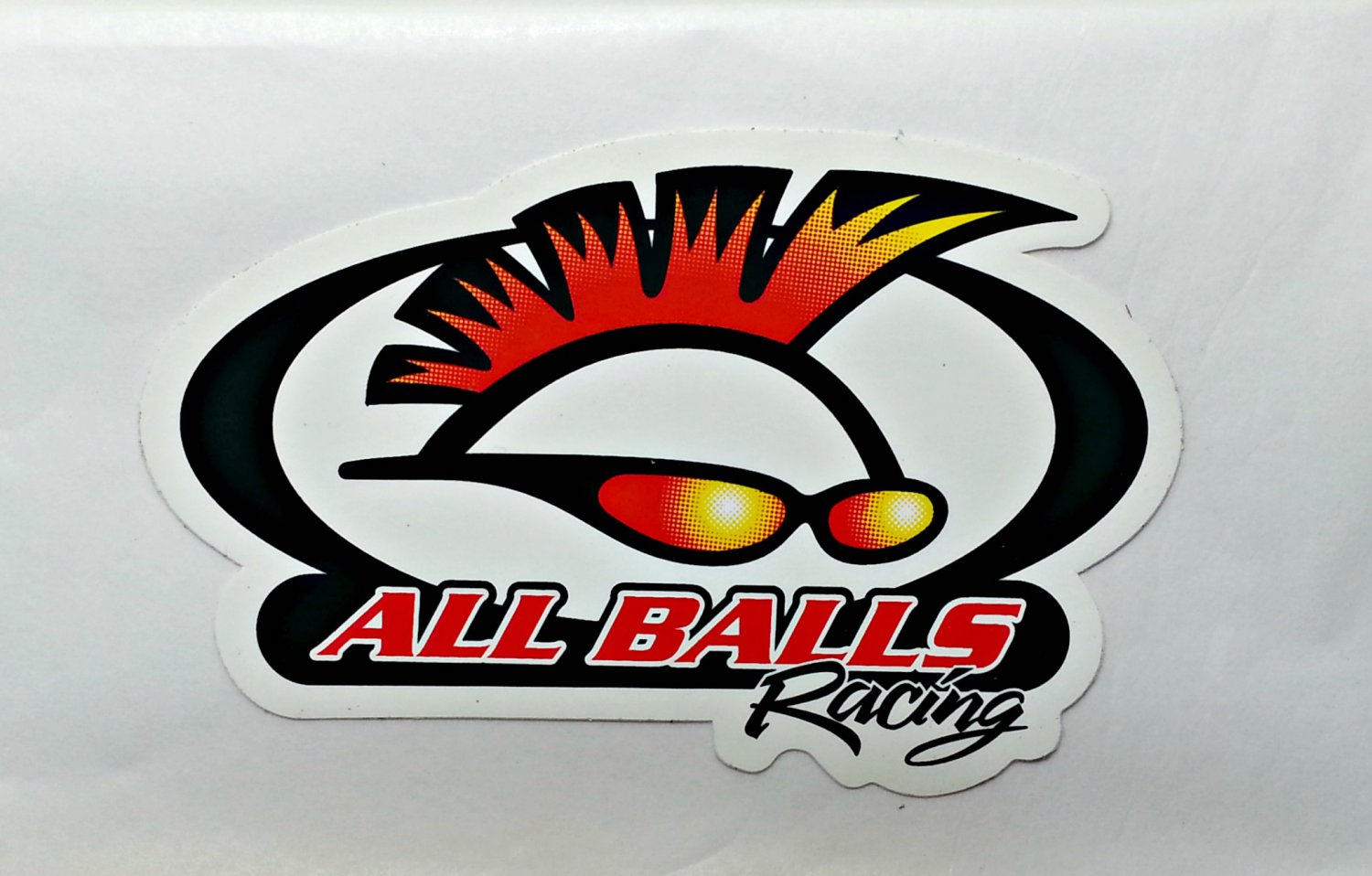 "All Balls Racing sticker - 4"" x 2 1/2"""