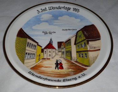 Collectable Vintage Internationale Wandertage 1983 plate