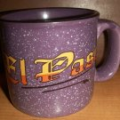 "Purple and White Speckled  ""El Paso"" Mug"