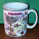 Beautiful Quality Made Iridescent Virginia State Coffee/ Hot Chocolate Mug