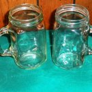 Set of Four Drinking Mason Jar Mugs