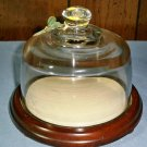 Covered Dish With Glass Globe Cover
